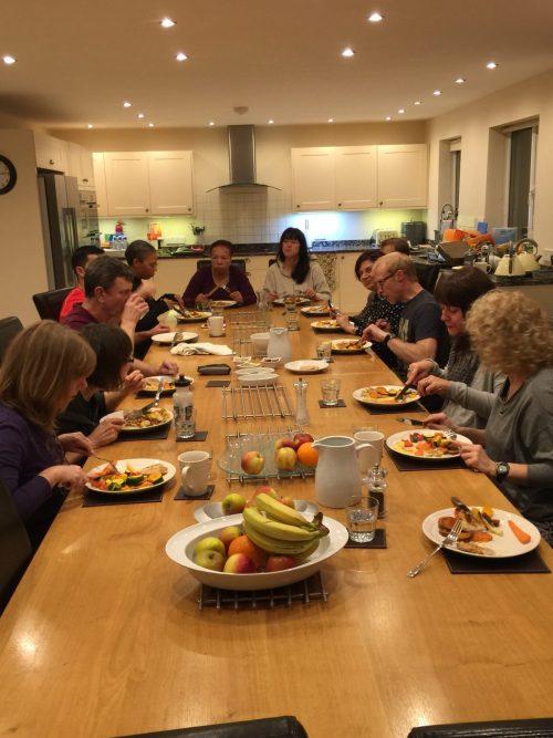 Dinner at Bodyline Fitness Retreat
